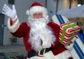 Santa arrives.