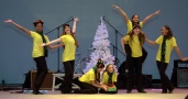 """Some of the Many but ONE company dance a parody of Dr. Seuss' book """"The Grinch That Stole Christmas."""""""