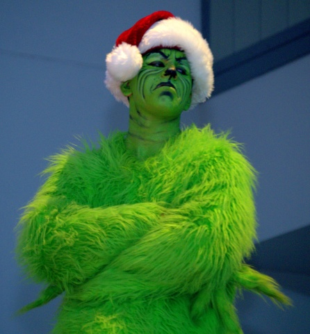 The green guy is not amused . . .