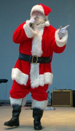 Santa takes the stage . . .