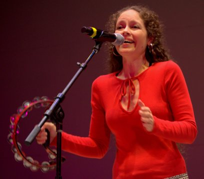Christine Maldonado sings with Peace Fighter, a favorite band at CNTB.