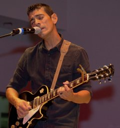 Jeff Maldonado sings and plays lead guitar for Peace Fighter.