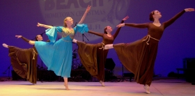 Mary dances with the daughters of Israel . . .