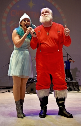 Santa, drumline, Holy Famiy-012