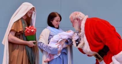 Santa, drumline, Holy Famiy-015