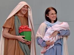 Santa, drumline, Holy Famiy-07