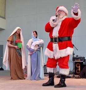 Santa, drumline, Holy Famiy-09